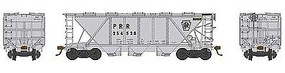 Bowser H30 Covered Hopper Pennsylvania RR #254600 HO Scale Model Train Freight Car #41467