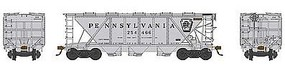 Bowser H30 Covered Hopper Pennsylvania RR #254520 HO Scale Model Train Freight Car #41471