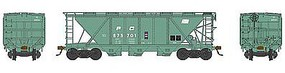 Bowser H30 Covered Hopper Penn Central #875701 HO Scale Model Train Freight Car #41472