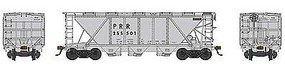 Bowser H30 Covered Hopper Pennsylvania RR #255523 HO Scale Model Train Freight Car #41485