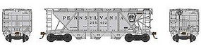 Bowser H30 Covered Hopper Pennsylvania RR #255529 HO Scale Model Train Freight Car #41489