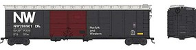 Bowser 50 Double-Door Boxcar - Ready to Run Norfolk & Western #286903 (black, Boxcar Red Doors, NW Logo)