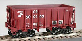 Bowser Class G-39a 70-Ton Ore Jenny with Friction-Bearing Trucks - Ready to Run Conrail 502461 (Boxcar Red)