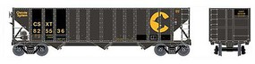 Bowser 100-Ton 3-Bay Open Hopper - Ready to Run - Executive Line Chessie System CSXT 825736 (Patched, black, yellow)