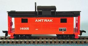 Bowser N5 Caboose Amtrak (Orange) HO Scale Model Train Freight Car #55013