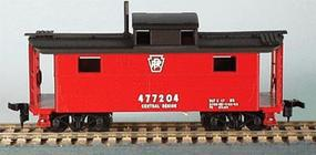 Bowser N-5 All-Steel Caboose Kit Pennsylvania Railroad HO Scale Model Train Freight Car #55021