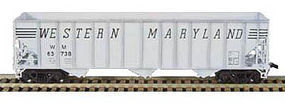 Bowser 100-Ton 45 H-43 3-Bay Hopper Kit Western Maryland HO Scale Model Train Freight Car #55129