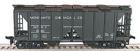 Bowser 70-Ton 2-Bay Open-Side Covered Hopper Kit HO Scale Model Train Freight Car #55811