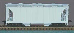 Bowser 70-Ton 2-Bay Closed Side Covered Hopper Undecorated HO Scale Model Train Freight Car #56100