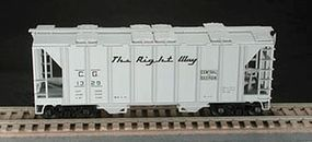 Bowser 70-Ton 2-Bay Covered Hopper Kit Central of Georgia HO Scale Model Train Freight Car #56450