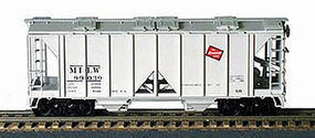 Bowser 70 ton 2-bay Covered Hopper Milwaukee 99031 HO Scale Model Train Freight Car #56758