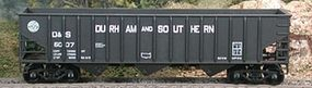 Bowser 70-Ton 14 Panel 3-Bay Hopper - Kit - Durham & Southern HO Scale Model Train Freight Car #56786