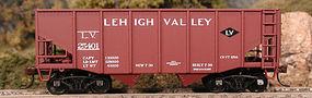 Bowser 55-Ton 2-Bay Fishbelly Hopper - Kit - Lehigh Valley HO Scale Model Train Freight Car #56858
