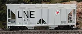 Bowser 70-Ton 2-Bay Covered Hopper Lehigh New England HO Scale Model Train Freight Car #56873