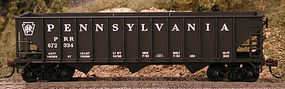 Bowser 70-Ton 12 Panel Triple Hopper Pennsylvania #672108 HO Scale Model Train Freight Car #56880