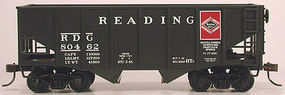 Bowser 55-Ton Fishbelly Hopper Reading 80462 HO Scale Model Train Freight Car #56984