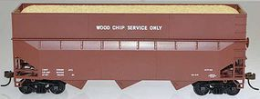 Bowser 70-Ton 40ft 3-Bay Offset Woodchip Hopper Data Only HO Scale Model Train Freight Car #57012