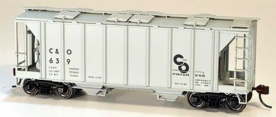 Bowser Manufacturing Co. 70-Ton Covered Hopper, Closed Sides - Kit -- Chesapeake & Ohio 769 (gray, Progress Logo)