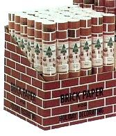 Brick Paper Corrugated Brick Paper Display (24''x5' Roll) (36/Display)