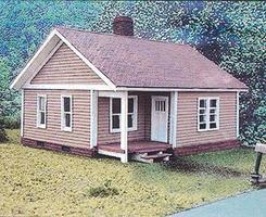 Branchline Catalog Homes - The Thelma House Kit (6 x 6 x 5-1/2) HO Scale Model Railroad Building #619