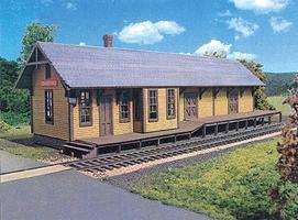 Branchline Centre Hall Depot Laser-Art Kit (13 x 4 x 4) HO Scale Model Railroad Building #663