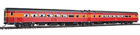 Broadway Coast Daylight Train #99 Series Articulated Chair Car HO Scale Model Train Passenger Car #1589