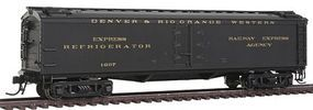 Broadway 536 Wood Express Reefer Denver & Rio Grande Western HO Scale Model Train Freight Car #1827