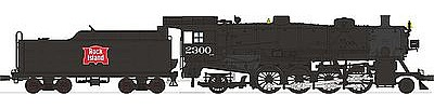 Broadway Limited Imports USRA Light Mikado 2-8-2 DCC Rock Island #2300 -- HO Scale Model Train Steam Locomotive -- #2178