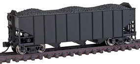 Broadway H2A 3-Bay Hopper Unlettered (6) N Scale Model Train Freight Car #3133