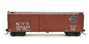 Broadway Steel Boxcar New York Central Gothic (4) N Scale Model Train Freight Car Set #3402