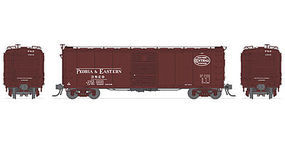 Broadway Steel Boxcar Peoria & Eastern Roman lettering (4) N Scale Model Train Freight Car Set #3406