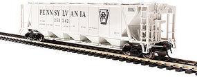 Broadway H32 Hopper Pennsylvania RR gray #C (2) HO Scale Model Train Freight Car #4088