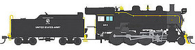 Broadway 2-8-0 with Sound US Army #600 HO Scale Model Train Steam Locomotive #4324