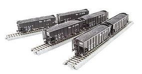 Broadway 3-bay Hopper D&RGW 6 pack HO Scale Model Train Freight Car #4455