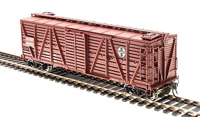 Broadway Limited Imports K7 Stock Car ATSF Cattle -- HO Scale Model Train Freight Car -- #4561