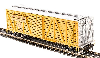 Broadway Limited Imports Stock Car Union Pacific with Chicken Sounds -- HO Scale Model Train Freight Car -- #4580