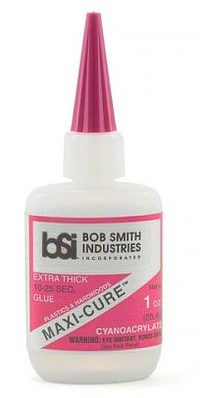 Bob Smith Industries Maxi-Cure Extra Thick CA Glue 1oz