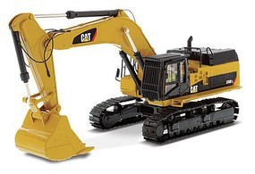 B2B-Replicas Caterpillar 374D L Hydraulic Excavator - Assembled - DM High Line Series Yellow, Black - 1/50 Scale