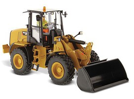 B2B-Replicas Caterpillar 910K Wheel Loader - Assembled - DM High Line Series Yellow, Black - 1/32 Scale