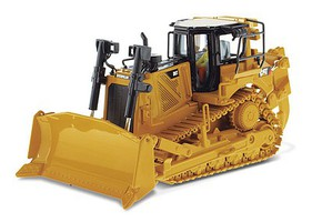 B2B-Replicas Caterpillar D8T Track-Type Tractor - Assembled - DM High Line Series Yellow, Black - 1/50 Scale