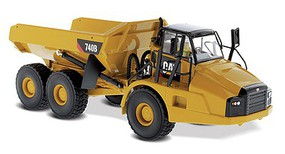 B2B-Replicas Caterpillar 740B Articulated Truck - Assembled - DM High Line Series Yellow, Black - 1/50 Scale