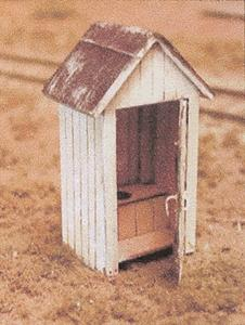 B.T.S. Gents & Ladies Outhouse -- O Scale Model Railroad Building Accessory -- #13005