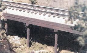 BTS Ballasted Deck Trestle O Scale Model Railroad Bridge #17103