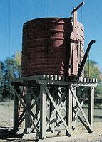 BTS 20,000-Gallon Open-Top Water Tower Kit O Scale Model Railroad Building #17490