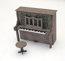 BTS Upright Piano Laser-Cut Wood Kit HO Scale Model Railroad Building Accessory #23008
