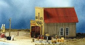 BTS Goin Home Series - Best Auto Garage HO Scale Model Railroad Building #27415