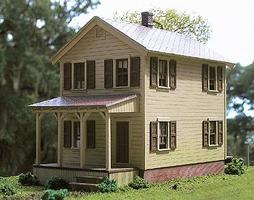 BTS 110 Second Street - Kit - 2-3/8 x 5-1/2 HO Scale Model Railroad Building #27700