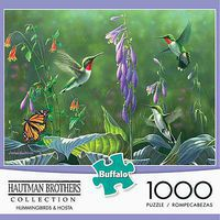 Buffalo-Games Hummingbirds & Hosta 1000pcs Jigsaw Puzzle 600-1000 Piece #11180