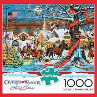 Buffalo-Games Small Town Christmas 1000pcs Jigsaw Puzzle 600-1000 Piece #11425
