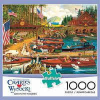 Buffalo-Games Lost In The Woodies 1000pcs Jigsaw Puzzle 600-1000 Piece #11426
